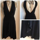 Bebe Black Sleeveless Plunge Front Cocktail Dress S NWOT