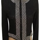 Brilliante Black & White Sequin Jacket S