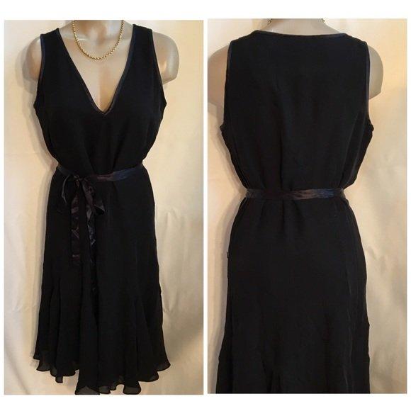 Calvin Klein Black Silk Dress 8