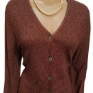 Chico's Brown Button Front Nubby Cardigan Sweater S/M