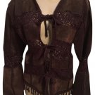 IDI Suede Crochet Brown Leather Jacket S