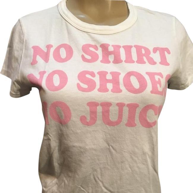 Juicy Couture White No Shirt No Shoes No Juicy Tee Shirt L NWT