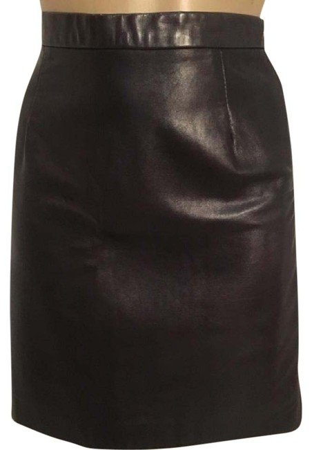 Leather Gallery Black Soft Leather Mini Skirt 8