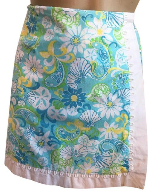 Lilly Pulitzer Floral Print Skort Skirt 8