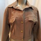 Lorraine Wardy Brown Embellished Jacket M