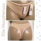 Elle Macpherson Tan & Pink Prism Thong Panty M NWT