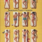 Magazine Paper Print Ad For 1990 Seagram's 7: 7th Heaven Pool Deck Scene
