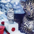 Magazine Paper Print Ad For Cartier 2013 Anglaise Tank Stainless Watches