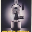 Magazine Paper Print Ad For 1995 Absolut Vodka Absolut Squeeze