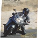 Magazine Paper Print Ad For BMW K1200S Motorcycles: Corner Turn Scene