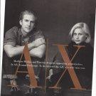 Magazine Paper Print Ad With Patricia Arquette & Matthew Modine For Armani Exchange
