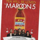 Magazine Paper Print Ad With Maroon 5 For Snapple Beverages