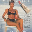 Magazine Paper Print Ad With Rachel Hunter For 1991 Bain De Soleil