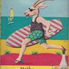 Magazine Paper Print Ad For 1990 Malibu Rum: Surfer Goat Scene