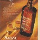 Magazine Paper Print Ad For 1989 Sauza TEquila: Fool's Gold