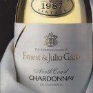Magazine Paper Print Ad For 1987 Ernest & Julio Gallo Chardonnay Wines