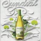 Magazine Paper Print Ad For 2010 Fetzer Chardonnay Sundial Is Back