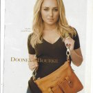 Magazine Paper Print Ad With Hayden Panettiere For Dooney & Bourke Florentine Brown Bags