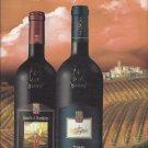 Magazine Paper Print Ad For 2012 Banfi WInes: 2 Bottle Vineyard Scene