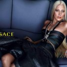 Magazine Paper Print Ad Set With Lady Gaga For Versace Fashions #2