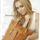 Magazine Paper Print Ad With Hayden Panettiere For Dooney & Bourke Florentine Brown Bags #2