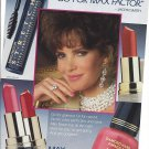 Magazine Paper Print Ad With Jacklyn Smith For 1990 Max Factor Cosmetics