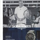 Magazine Paper Print Ad With Andre Aggasi For Longines Stainless Watches