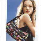 Magazine Paper Print Ad For Dooney & Bourke Black Logo Bags