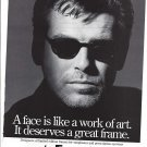 Magazine Paper Print Ad With Pierce Brosnan For L.A. Eyeworks