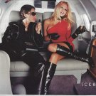 Magazine Paper Print Ad With Pam Anderson For Iceberg Fashions