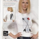Magazine Paper Print Ad With Gwenyth Paltrow For Key To The Cure