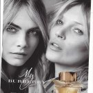 Magazine Paper Print Ad With Kate & Cara For My Burberry Fragrence