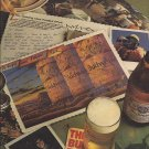 Magazine Paper Print Ad For 1985 Budweiser Beer: Petrified 6 Pack Scene