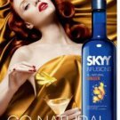 Magazine Paper Print Ad For Sky Vodka Ginger Infusions: Go Natural