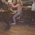 Magazine Paper Print Ad For Budweiser Beer: Couple In Country Bar Scene