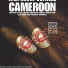 Magazine Paper Print Ad For H. Upmann Cameroon Cigars: Rating Scene