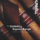 Magazine Paper Print Ad For Dunhill Cigars: Signed Range