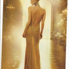 Magazine Paper Print Ad With Charlize Theron For Dior J'Adore: Gold Dress Rear Scene