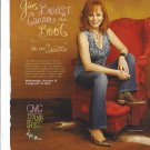 Magazine Paper Print Ad With Reba McEntire For QVC: Give Breast Cancer The Boot