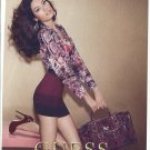 Magazine Paper Print Ad With Sandrah Hellberg For Guess Fashions