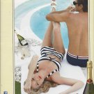 Magazine Paper Print Ad For Santa Margherita Prosecco: Couple By Pool Scene