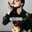 Magazine Paper Print Ad With Mariacarla Boscono For 2009 Moschino Glamour Fragrance