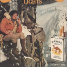Magazine Paper Print Ad For Camel Cigarettes: Man On Snowy Mountain Scene