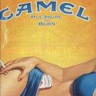 Magazine Paper Print Ad For Camel Cigarettes: Illustrated Woman Torso Scene