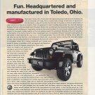 Magazine Paper Print Ad For Black Jeep Rubicon Cars: Have Fun