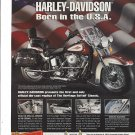 Magazine Paper Print Ad For Franklin Mint 1993 Harley Davidson Heritage Softail Motorcycle
