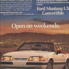 Magazine Paper Print Ad For 1990 White Ford Mustang Convertible Cars