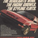 Magazine Paper Print Ad For 1984 Red Nissan Pulsar NX Cars