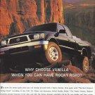 Magazine Paper Print Ad For 1997 Toyota Tacoma Black Trucks: Rocky Road