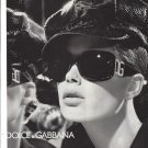 Magazine Paper Print Ad With Julia Stegner For 2005 Dolce & Gabbana Sunglasses
